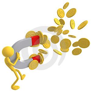 magnete-dei-soldi-che-attrae-le-monete-dell-euro-dell-oro-thumb3518234