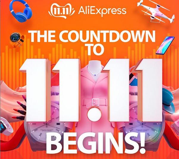 Contagem regressiva para o 11.11 do Aliexpress